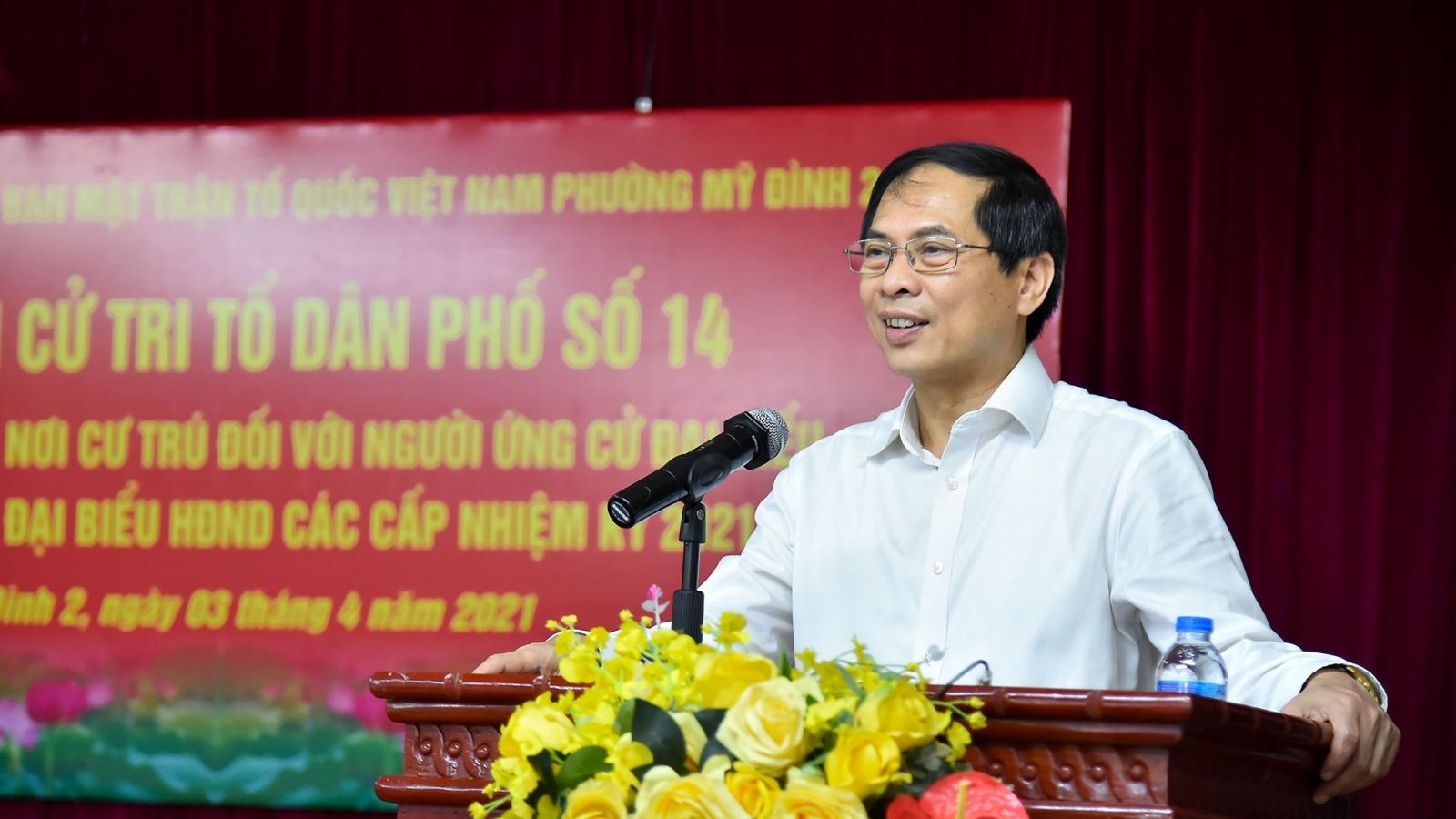 Cử tri nơi cư trú tín nhiệm giới thiệu ông Bùi Thanh Sơn ứng cử đại biểu Quốc hội khóa XV