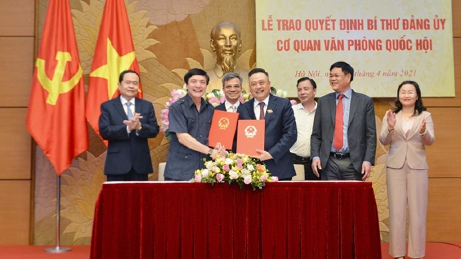 Ông Bùi Văn Cường làm Bí thư Đảng ủy Cơ quan Văn phòng Quốc hội