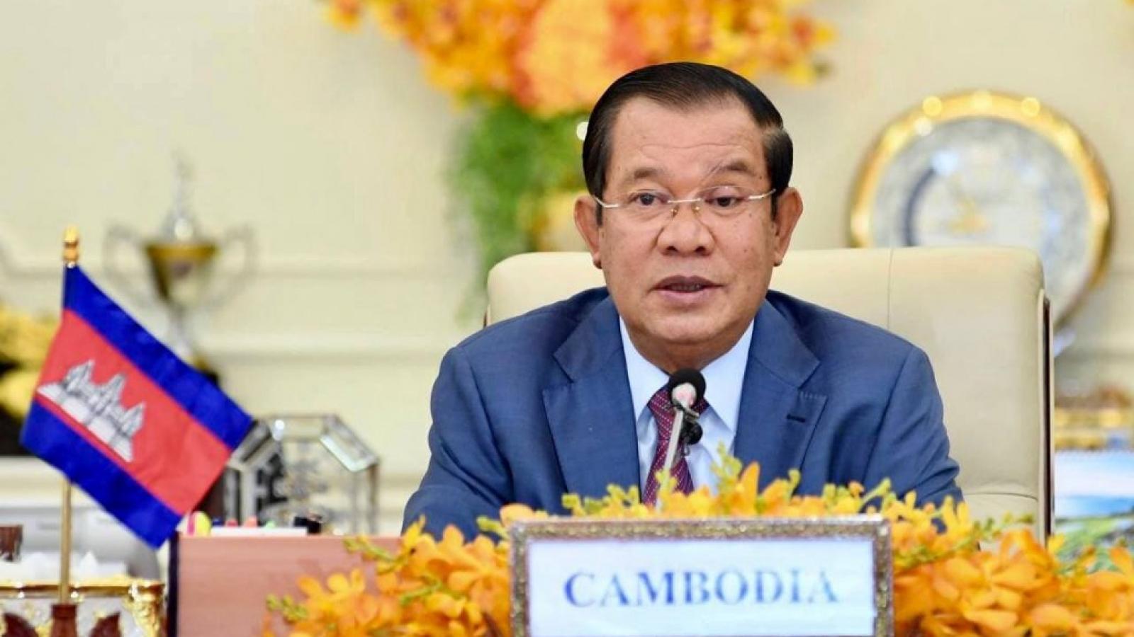 Thủ tướng Campuchia Hun Sen gửi thư chúc mừng tân Thủ tướng Phạm Minh Chính