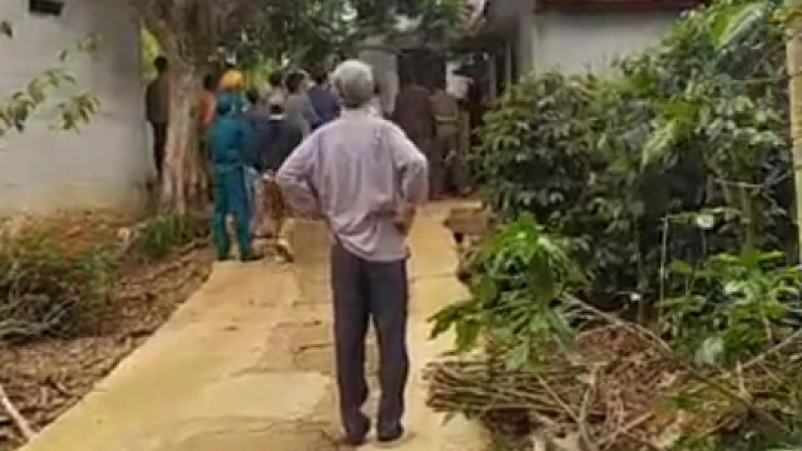 Mâu thuẫn gia đình, con trai hạ sát bố ruột ở Sơn La