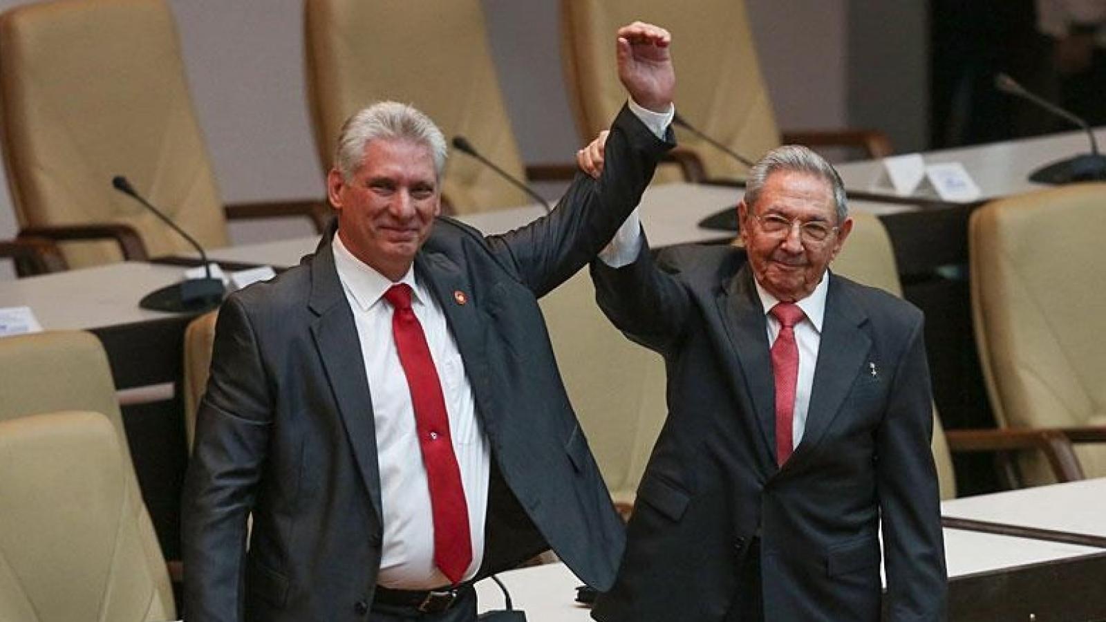 Chủ tịch Cuba Canel được bầu giữ chức Bí thư thứ nhất Ban chấp hành Trung ương Đảng