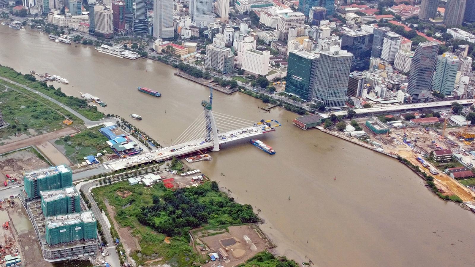 Cầu Thủ Thiêm 2 sẽ thi công trở lại trong tháng 4/2021