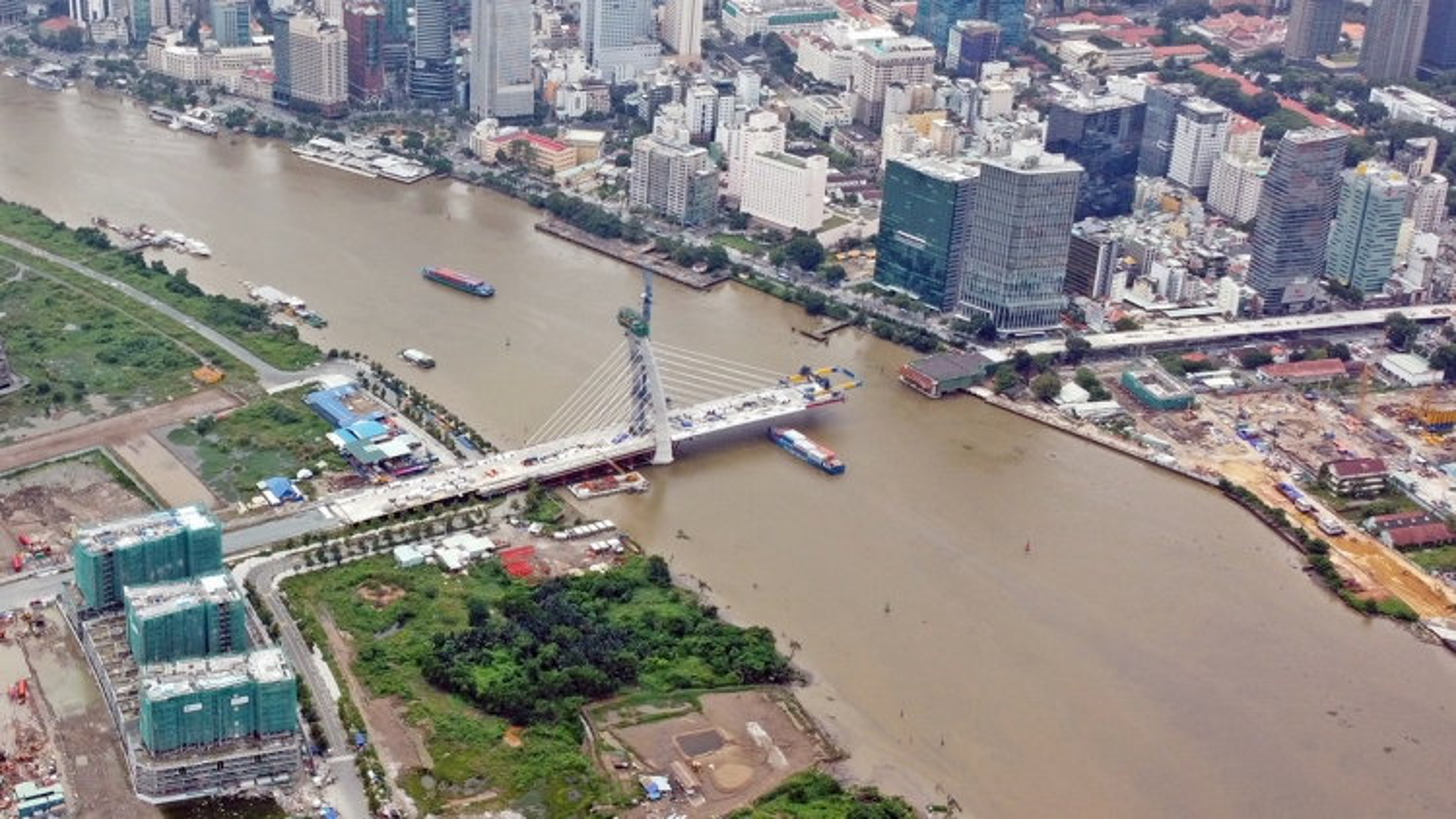 Cầu Thủ Thiêm 2 sẽ được thi công trở lại vào trước ngày 15/4