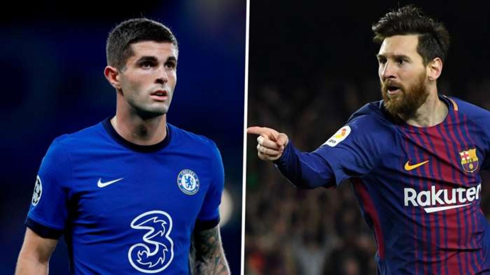 Pulisic cân bằng kỷ lục của Messi trong ngày Chelsea vào bán kết Champions League