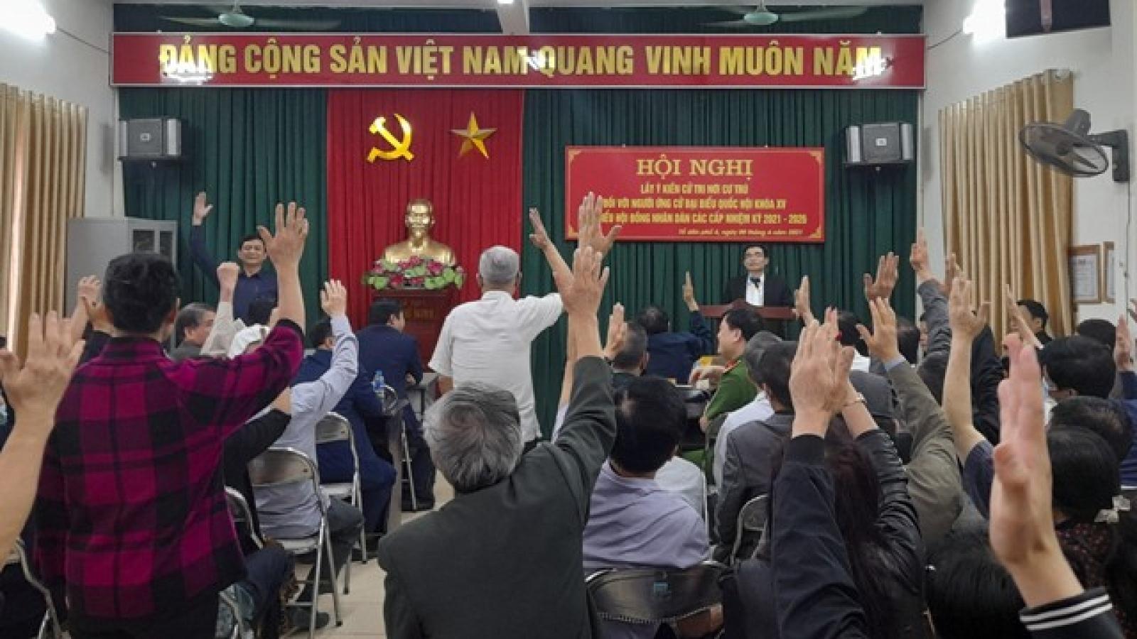 Hội nghị cử tri nơi cư trú - Thử thách đầu tiên đối với các ứng cử viên
