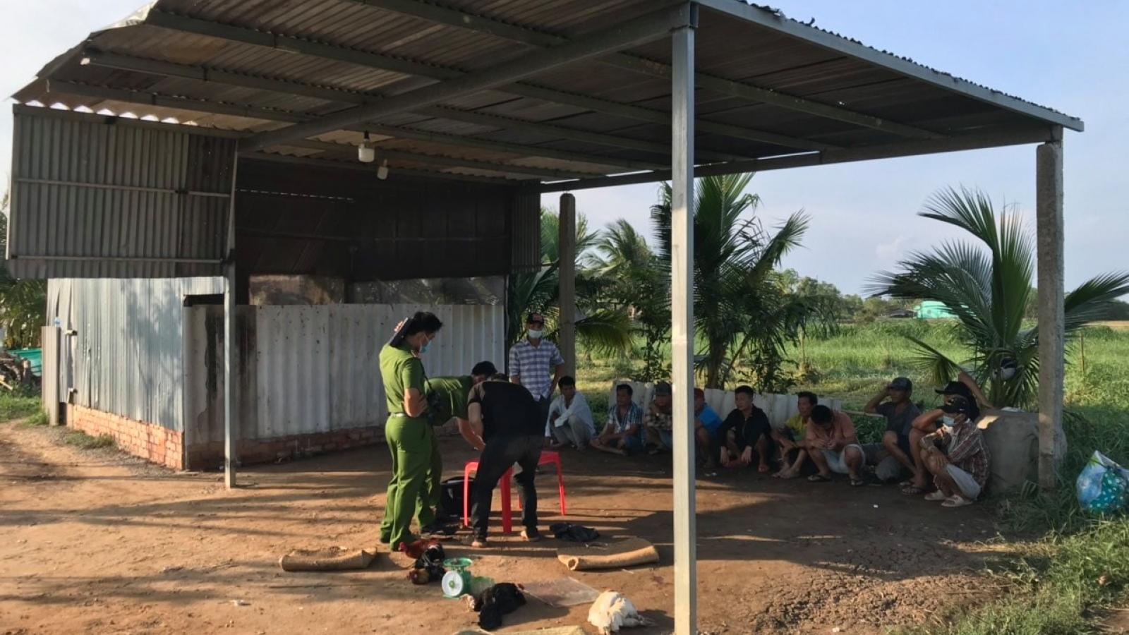 Triệt phá 1 tụ điểm đá gà ăn tiền ở Tiền Giang