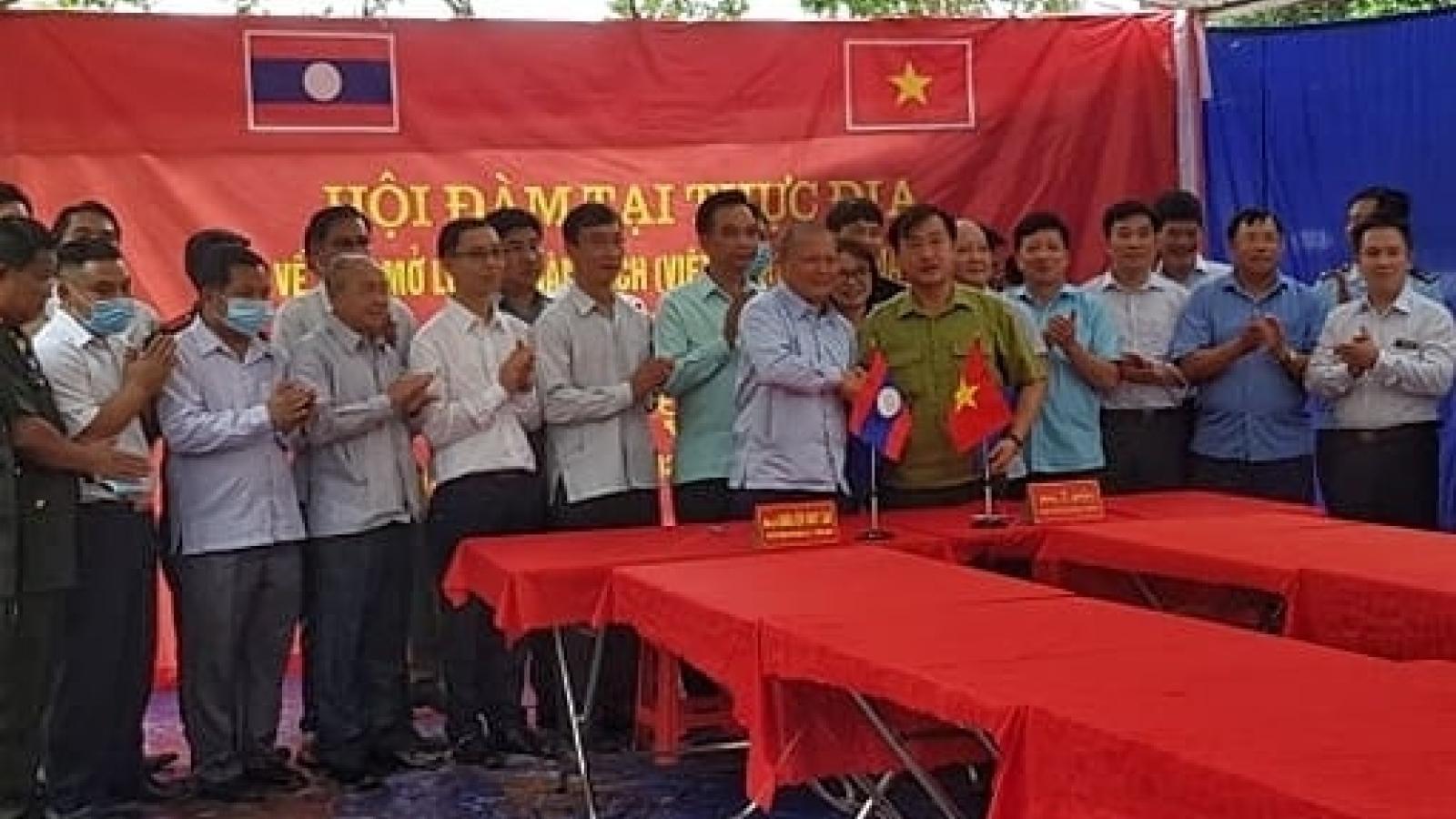Việt Nam - Lào nhất trí có thêm lối mở ở biên giới thuộc tỉnh Điện Biên
