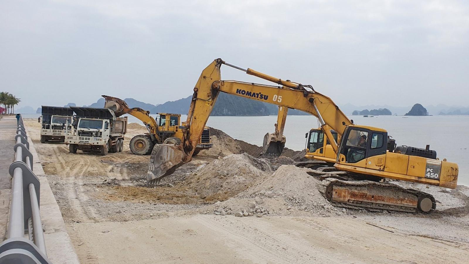 Xem xét kỷ luật cán bộ liên quan đến vụ đổ đất lấn bãi triều tại Vân Đồn