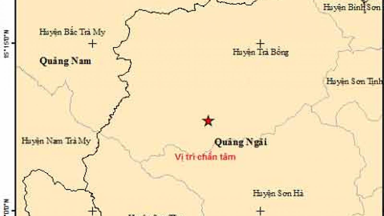Liên tiếp xảy ra 2 trận động đất tại Quảng Ngãi