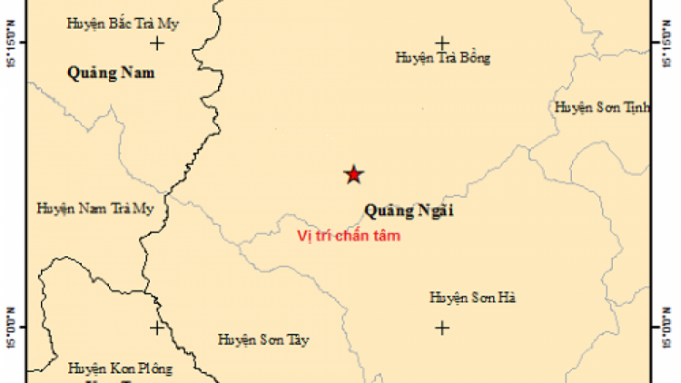 Quang Ngai province hit by two earthquakes in a single morning