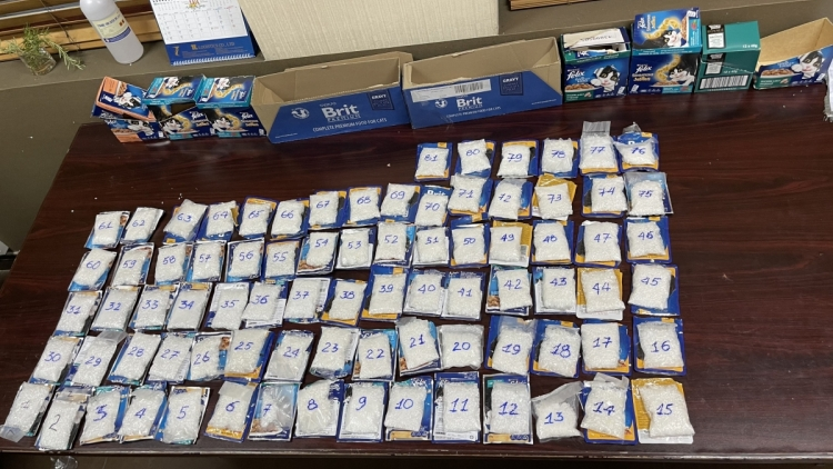 Drugs stashed in cat food seized at Tan Son Nhat Airport