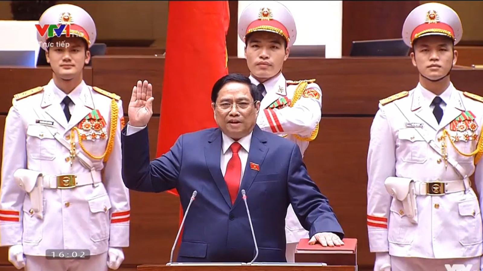 Video Thủ tướng Phạm Minh Chính tuyên thệ nhậm chức