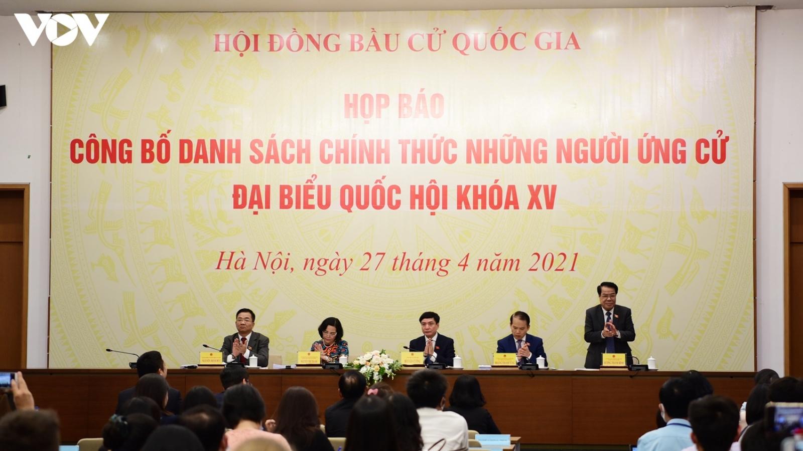 Chính thức có 868 người ứng cử Đại biểu Quốc hội khóa XV