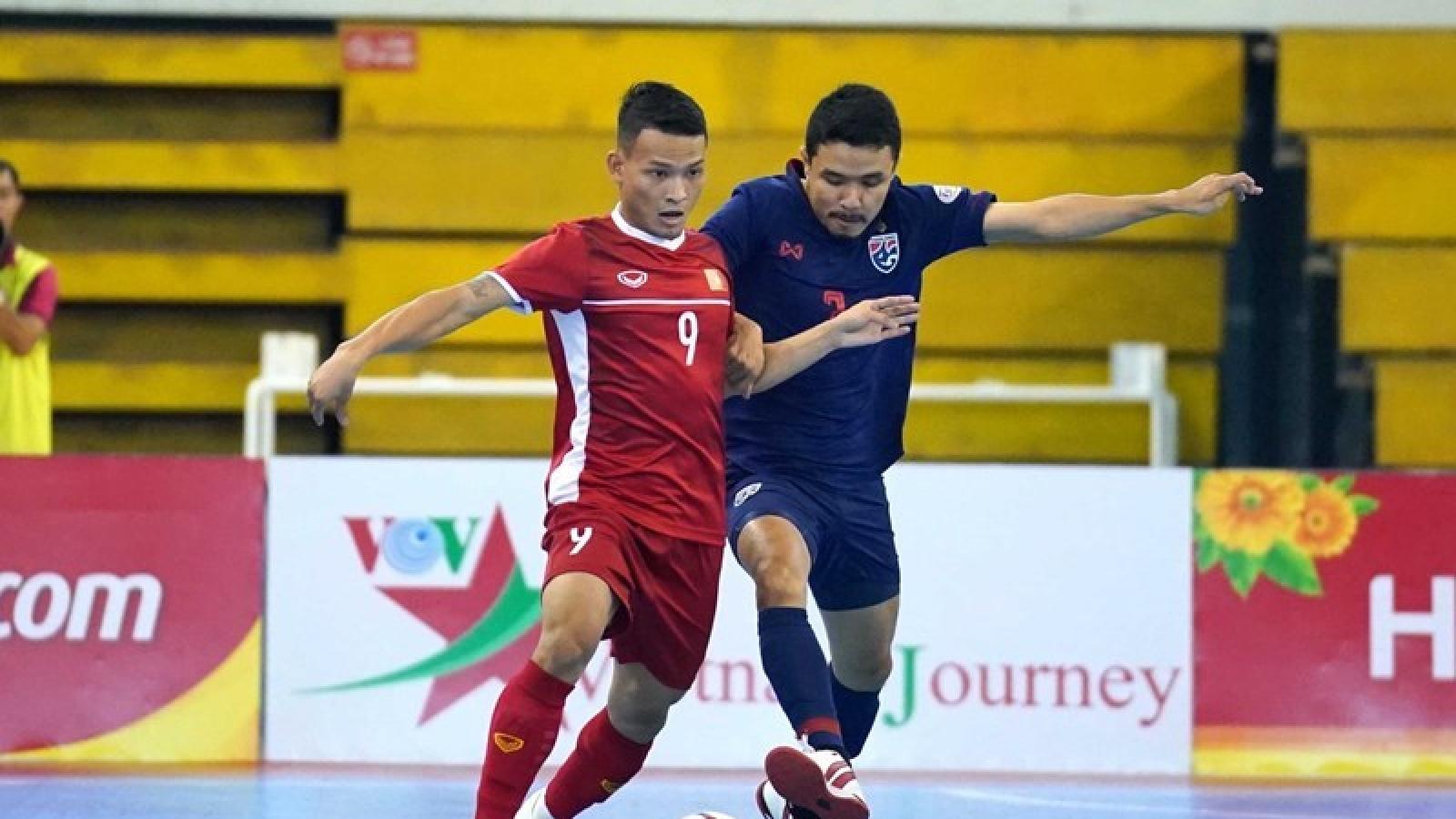 ĐT Việt Nam và ĐT Thái Lan thi đấu play-off tranh vé dự VCK FIFA Futsal World Cup 2021