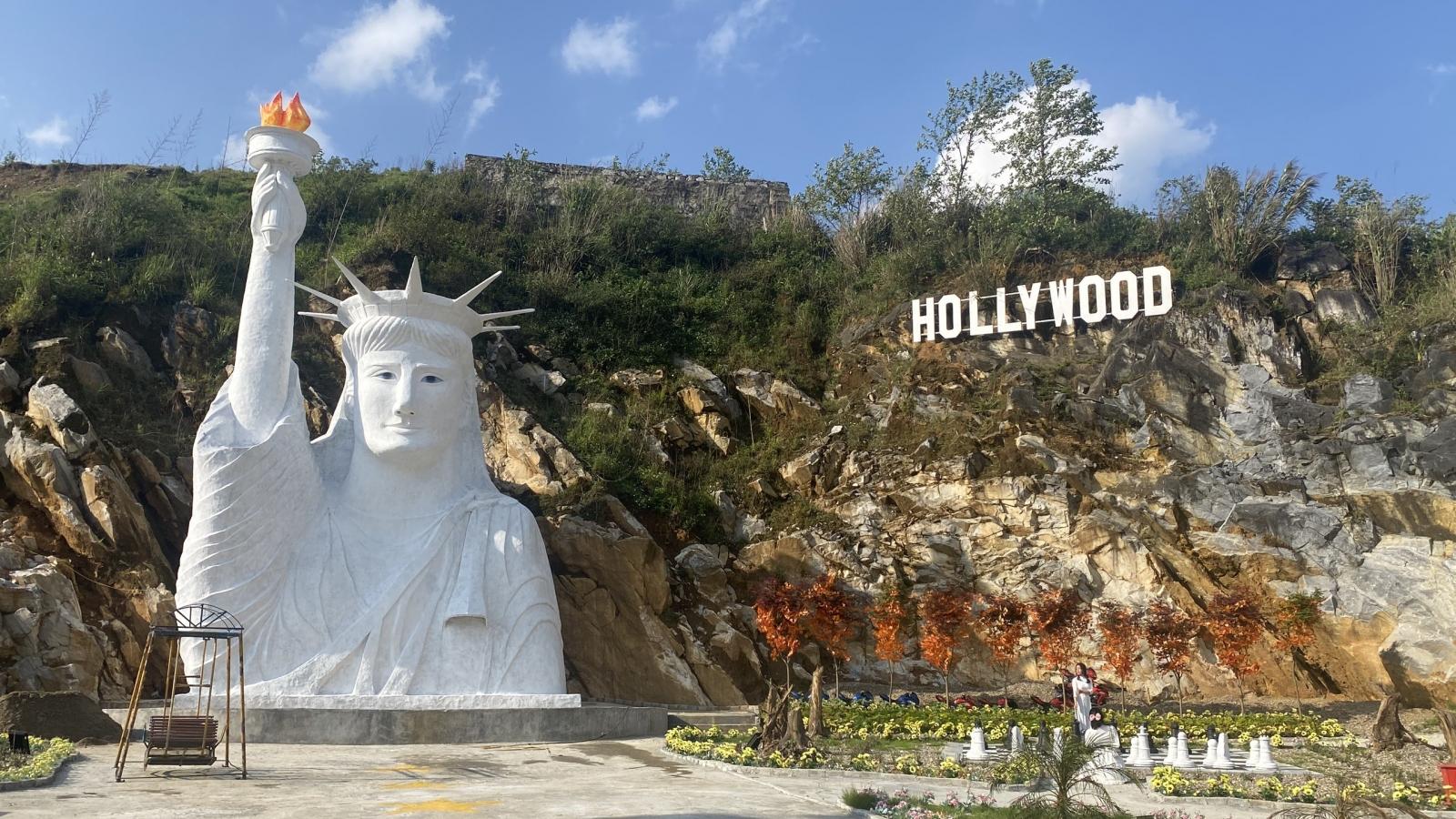 """Lãnh đạo thị xã Sa Pa lên tiếng về phiên bản """"lỗi"""" tượng nữ thần tự do"""