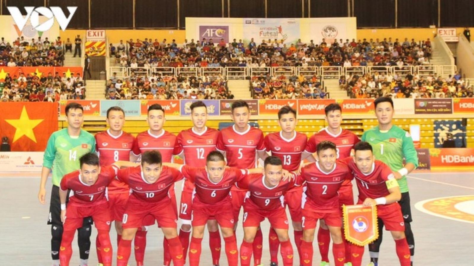 Xác định đối thủ đá play-off tranh vé dự World Cup Futsal với ĐT Việt Nam