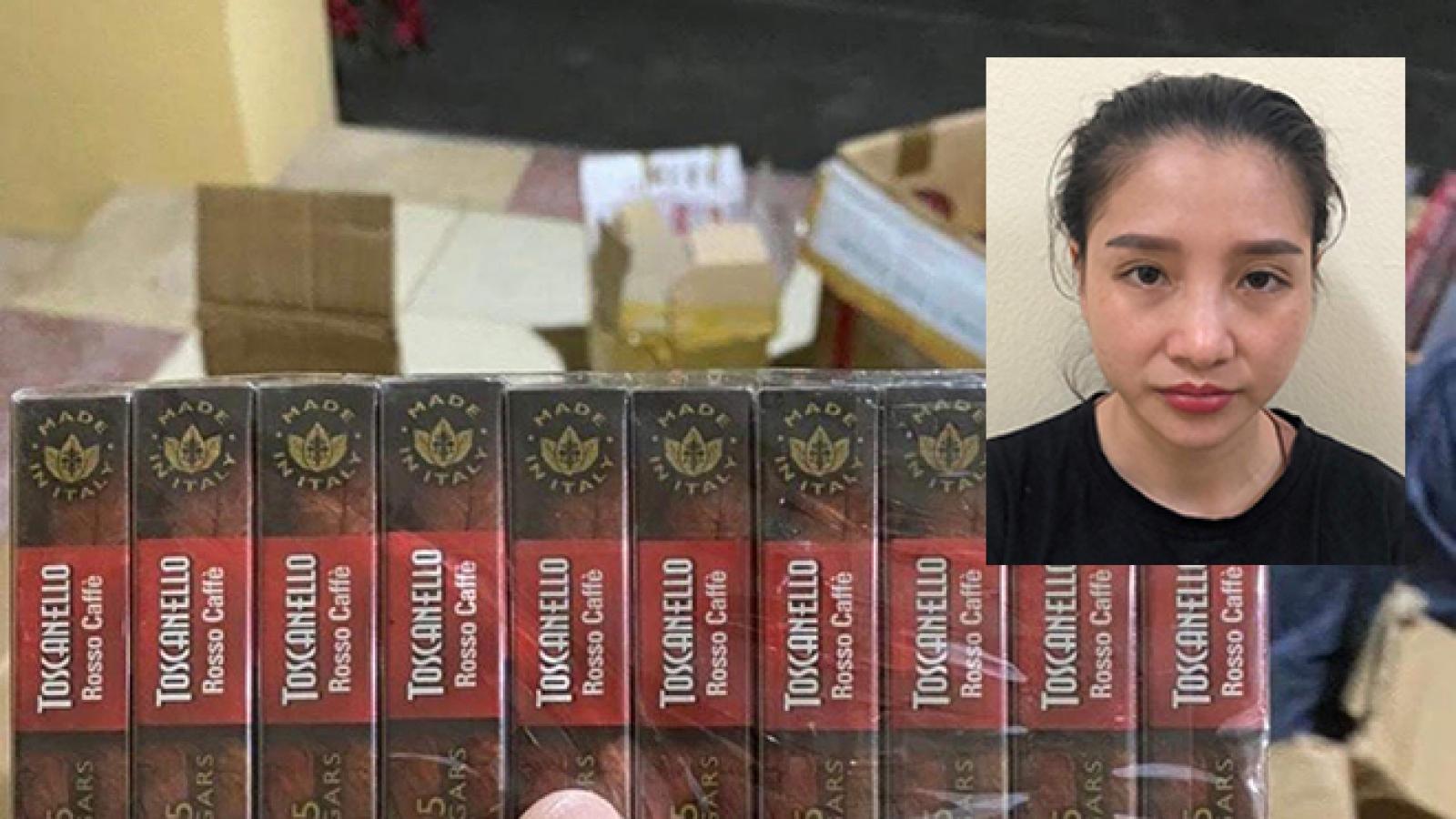 Nữ giáo viên ở Hà Nội liên quan đường dây thuốc lá lậu
