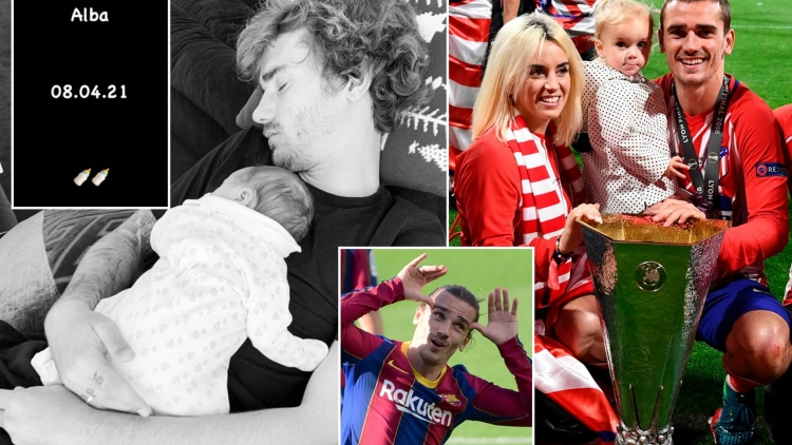 Thú vị: 3 con của Antoine Griezmann đều sinh trùng ngày