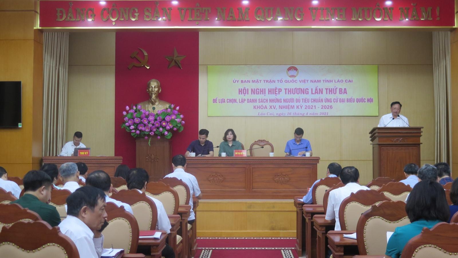 Ứng cử viên ĐBQH tỉnh Lào Cai có người dân tộc Mông và Tày