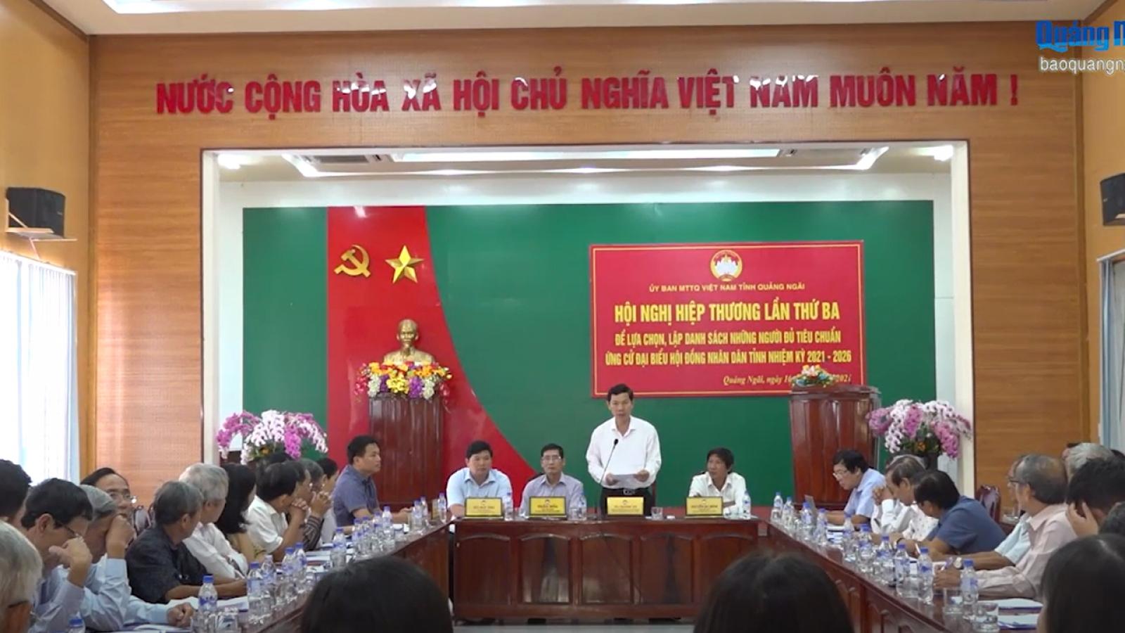 50% số người ứng cử ĐBQH tại Quảng Ngãi là nữ