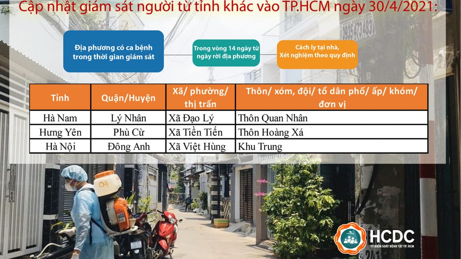 TPHCM cách ly tại nhà và xét nghiệm đối với những người đến từ địa phương có ca bệnh