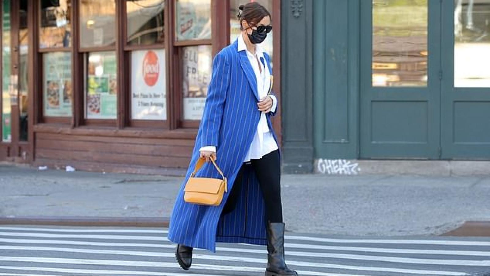 Siêu mẫu Irina Shayk tái xuất nổi bật trên đường phố New York