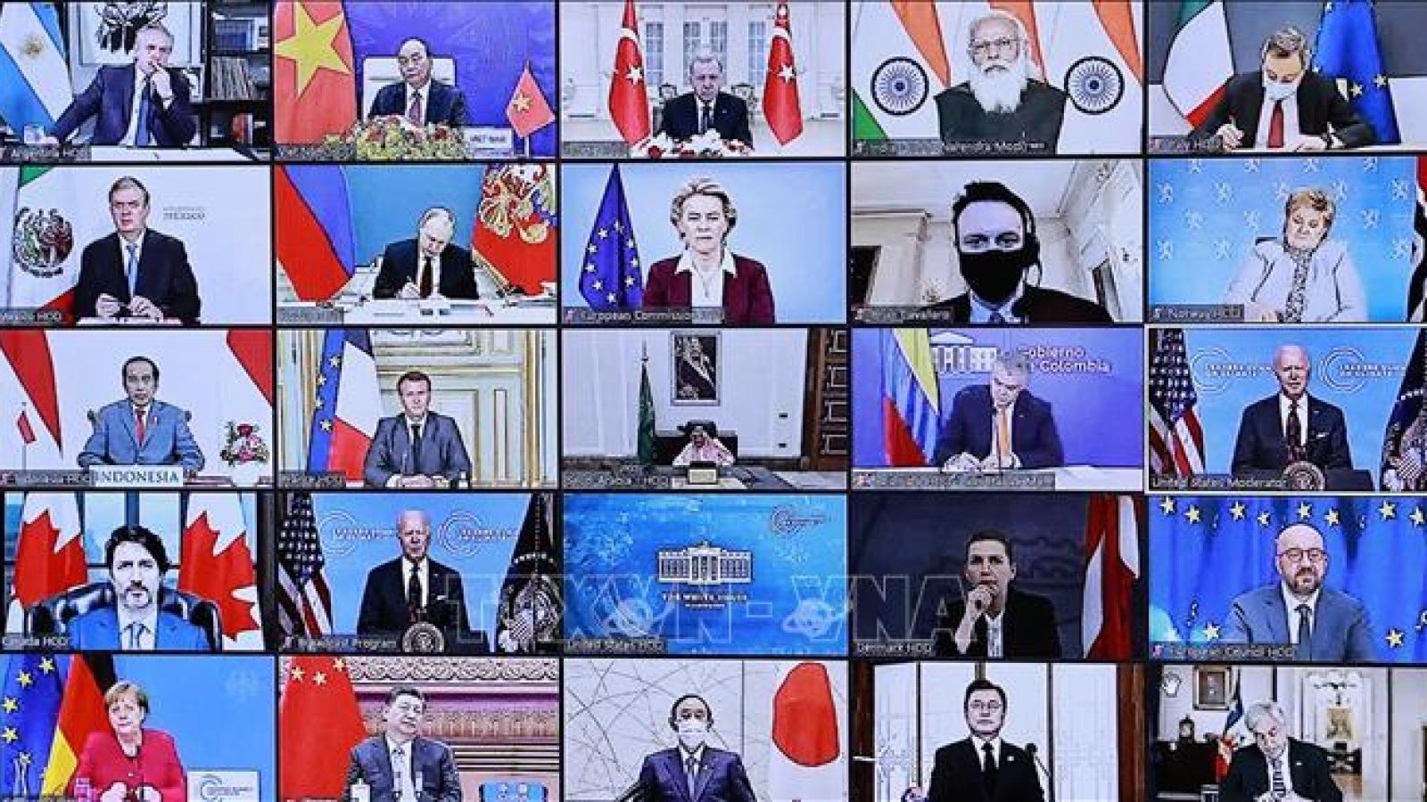 Kết thúc Hội nghị thượng đỉnh khí hậu, các lãnh đạo thế giới tiếp tục đưa ra cam kết mới