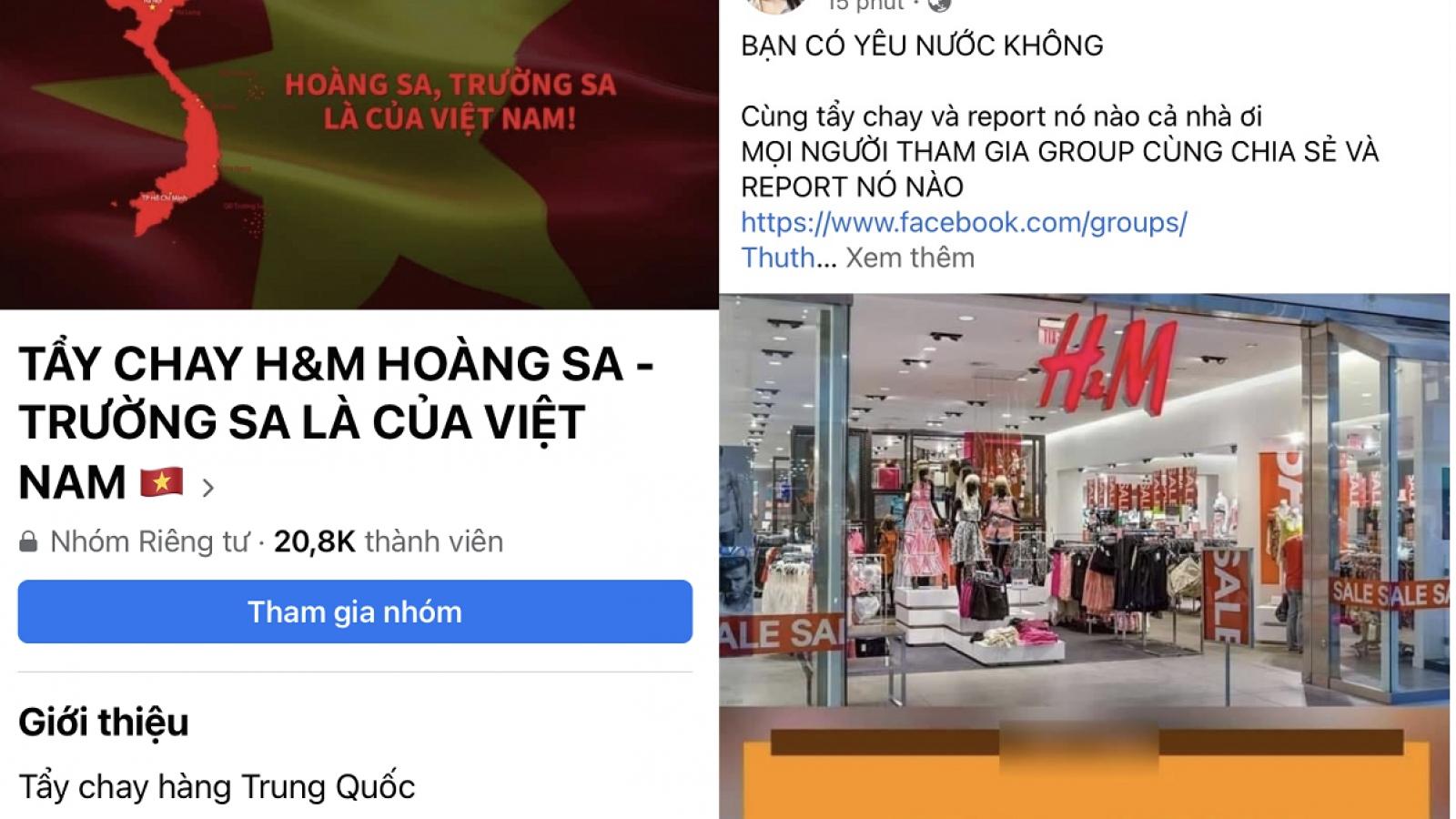 Cộng đồng mạng Việt Nam phản ứng gay gắt khi nghe tin H&M sửa bản đồ liên quan chủ quyền