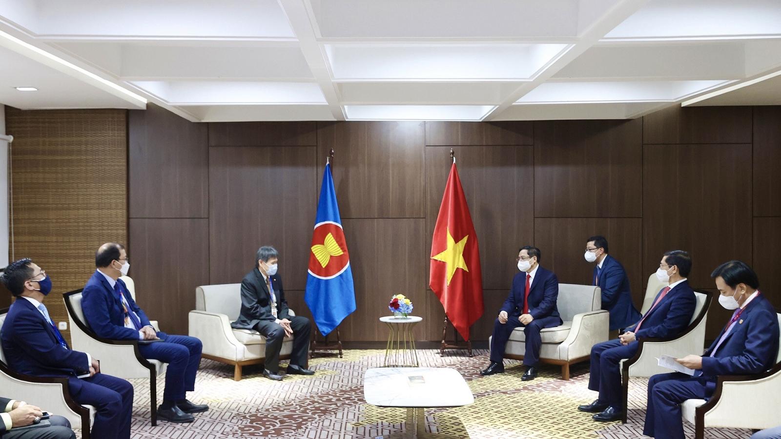 Thủ tướng Phạm Minh Chính tiếp Tổng Thư ký ASEAN Lim Jock Hoi