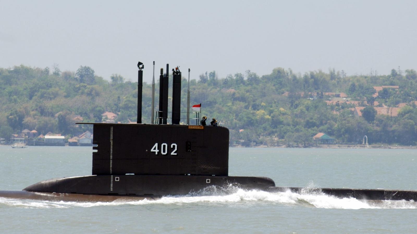 """""""Tàu ngầm mất tích của Indonesia có thể không bao giờ được tìm thấy"""""""