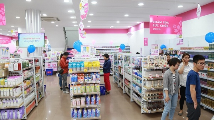 Growth of Japanese consumption goods in local market among top 10 in region
