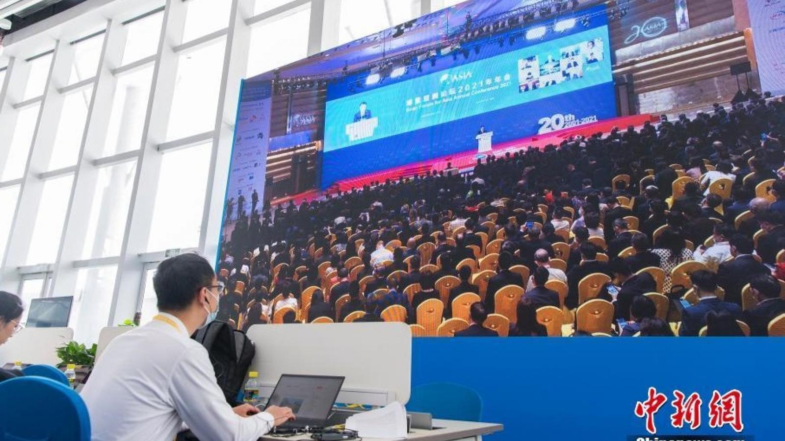 """Chủ tịch Trung Quốc kêu gọi chống """"bá quyền"""" tại diễn đàn Bác Ngao 2021"""