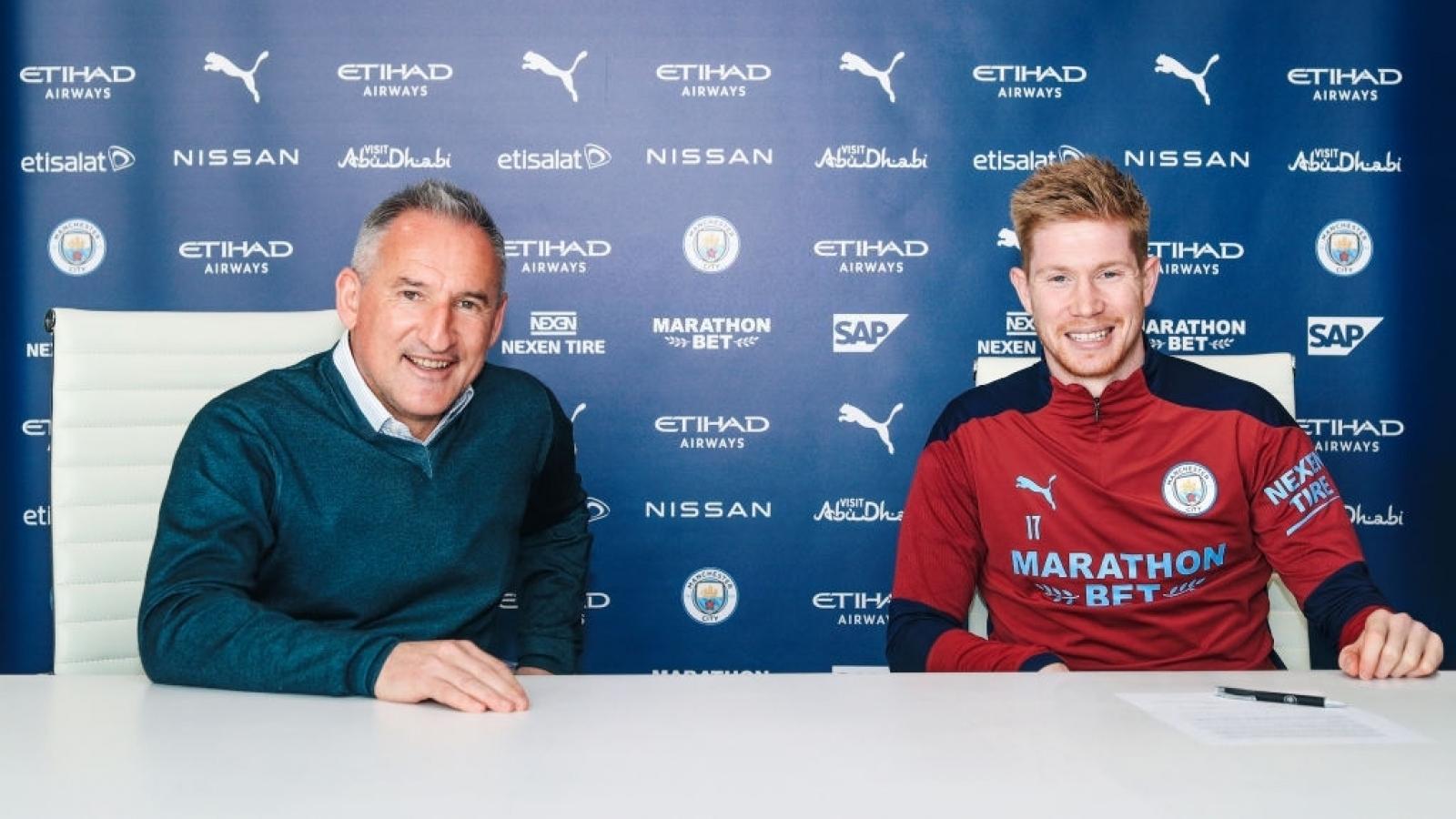 De Bruyne gia hạn hợp đồng với Man City tới năm 2025