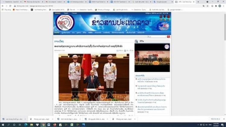Lao news agency reports on election of top Vietnamese leaders