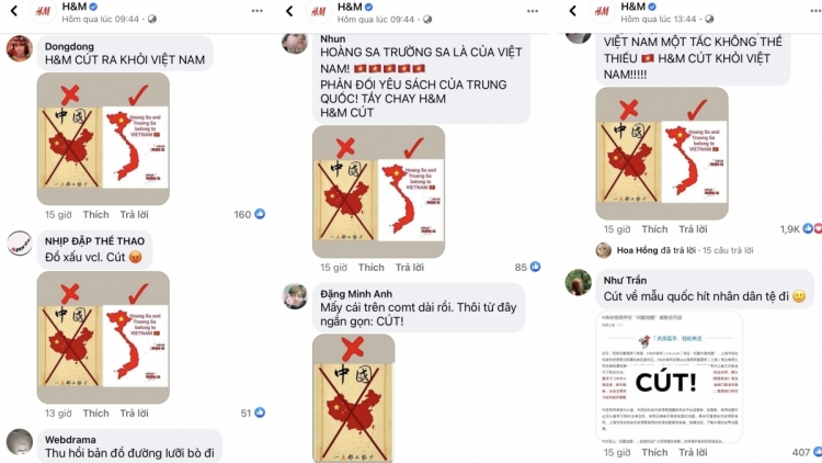 Vietnamese online community react strongly to H&M editing sovereignty-related map