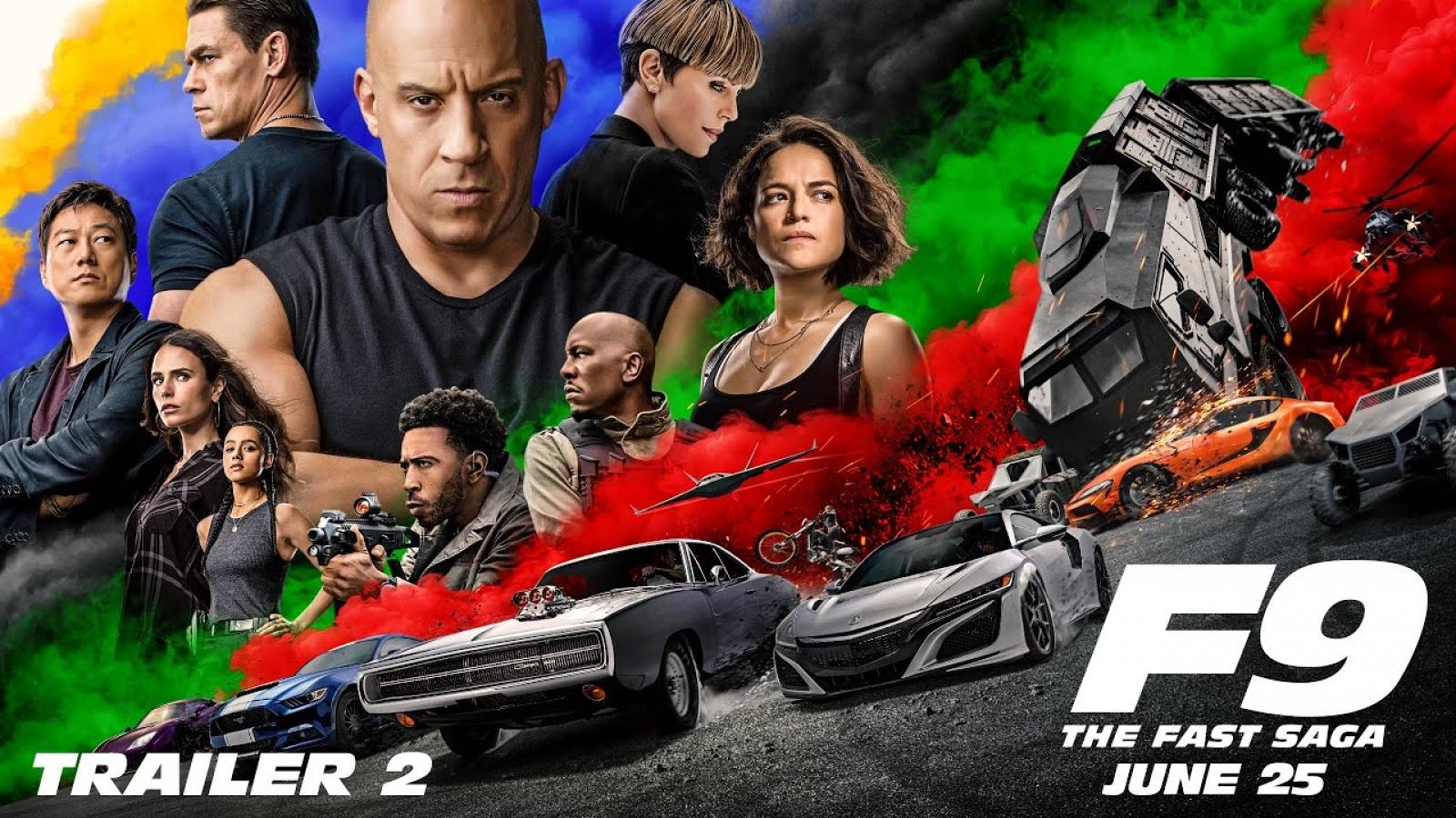 """Bom tấn """"Fast & Furious 9"""" trình làng trailer rượt đuổi gay cấn, ngoạn mục"""