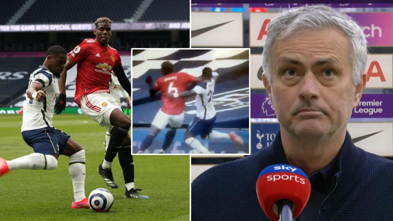 Jose Mourinho đòi trọng tài rút thẻ đỏ với Paul Pogba