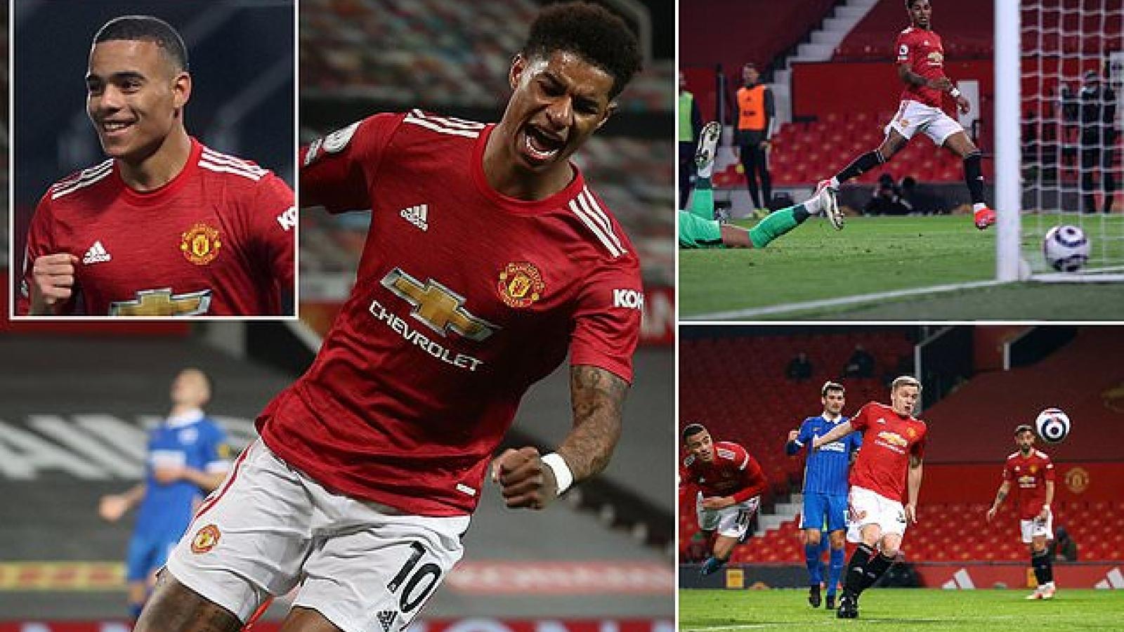 """Toàn cảnh MU 2-1 Brighton: Danny Welbeck nếm mùi """"đặc sản"""" của Quỷ đỏ"""