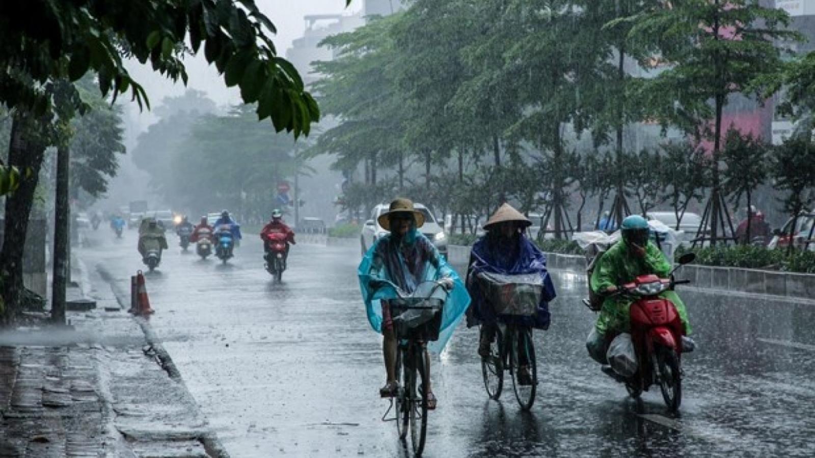 Thời tiết ngày 27/4: Bắc Bộ có mưa dông đề phòng lốc, sét, mưa đá