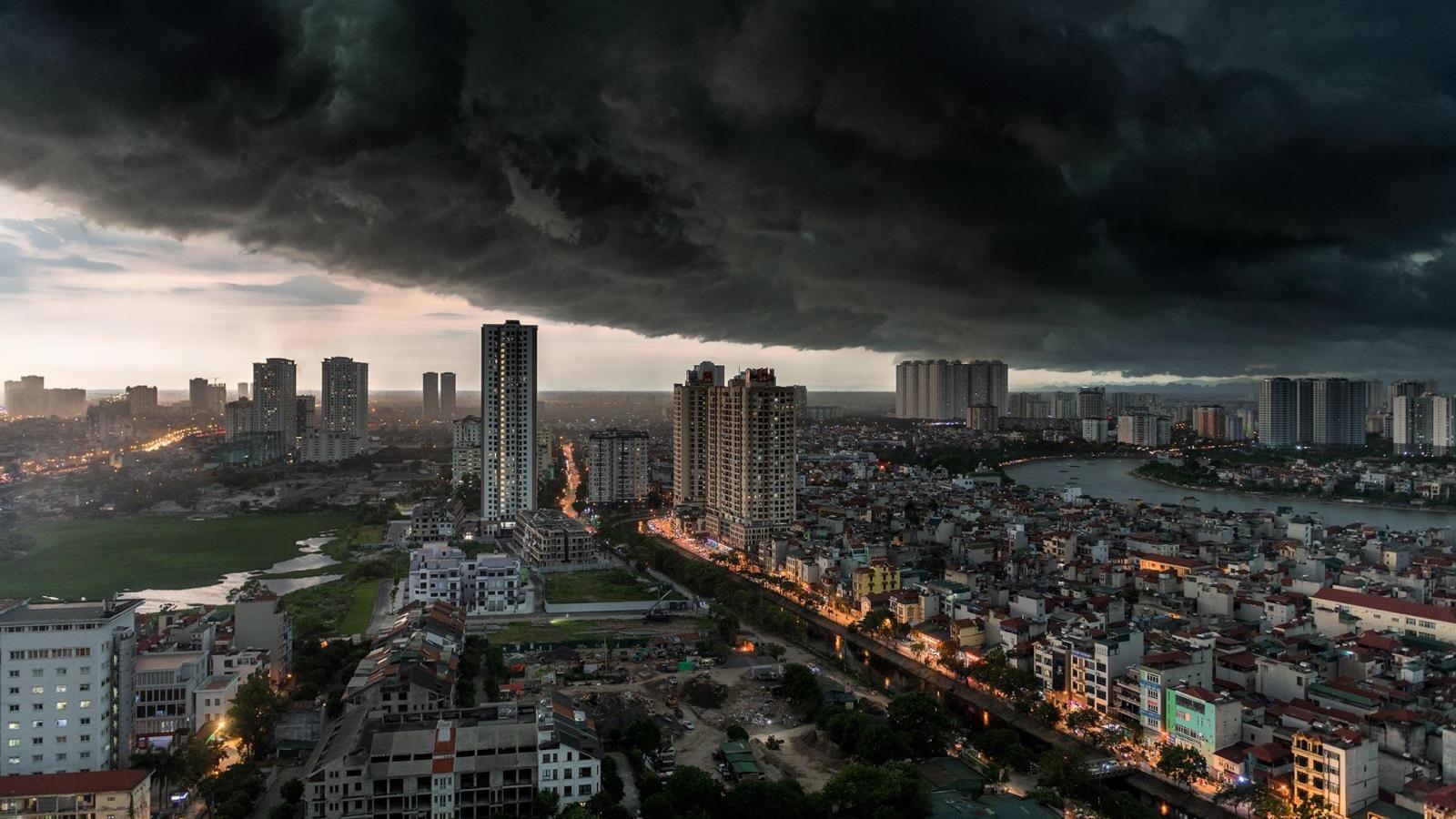 Cảnh báo mưa dông lớn tại Hà Nội và nhiều tỉnh ở Bắc Bộ