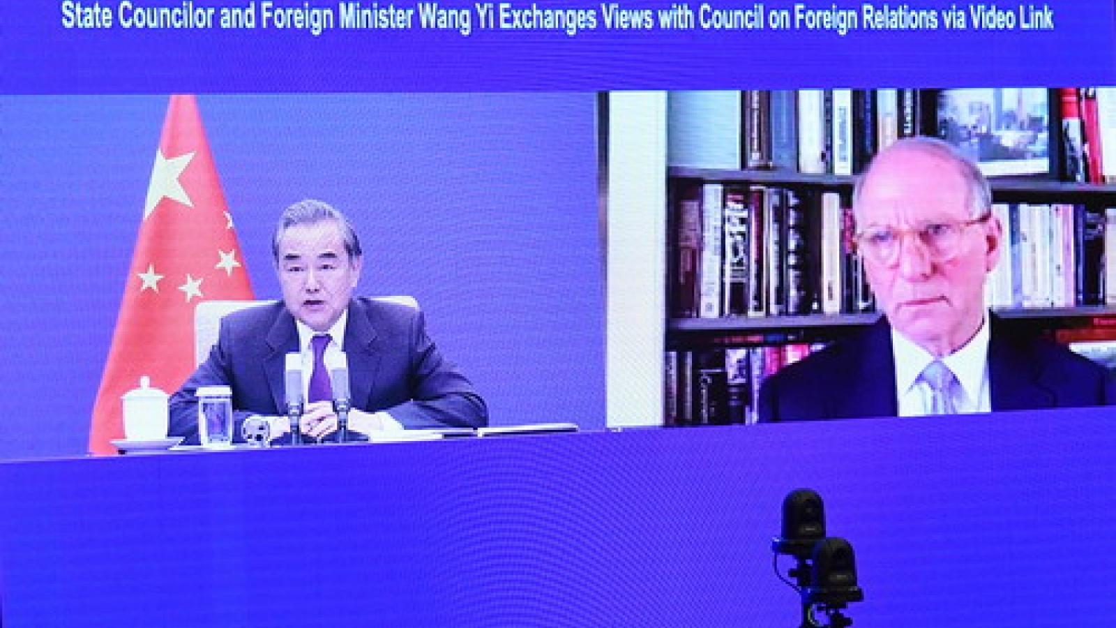 Ngoại trưởng Vương Nghị: Mỹ chưa tìm được con đường đúng đắn kết giao với Trung Quốc