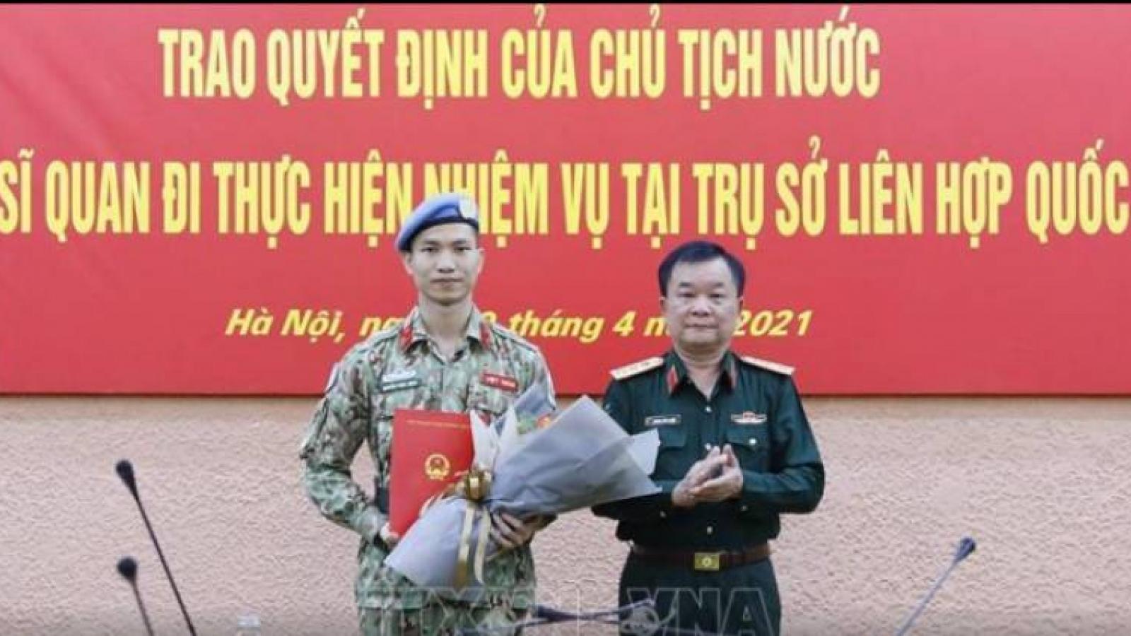 Third Vietnamese officer to work at UN Headquarters