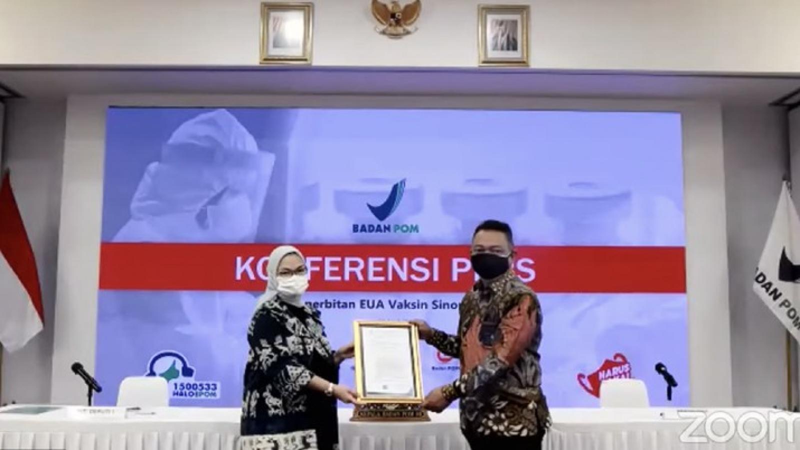 Indonesia cấp phép sử dụng khẩn cấp cho vaccine Sinopharm