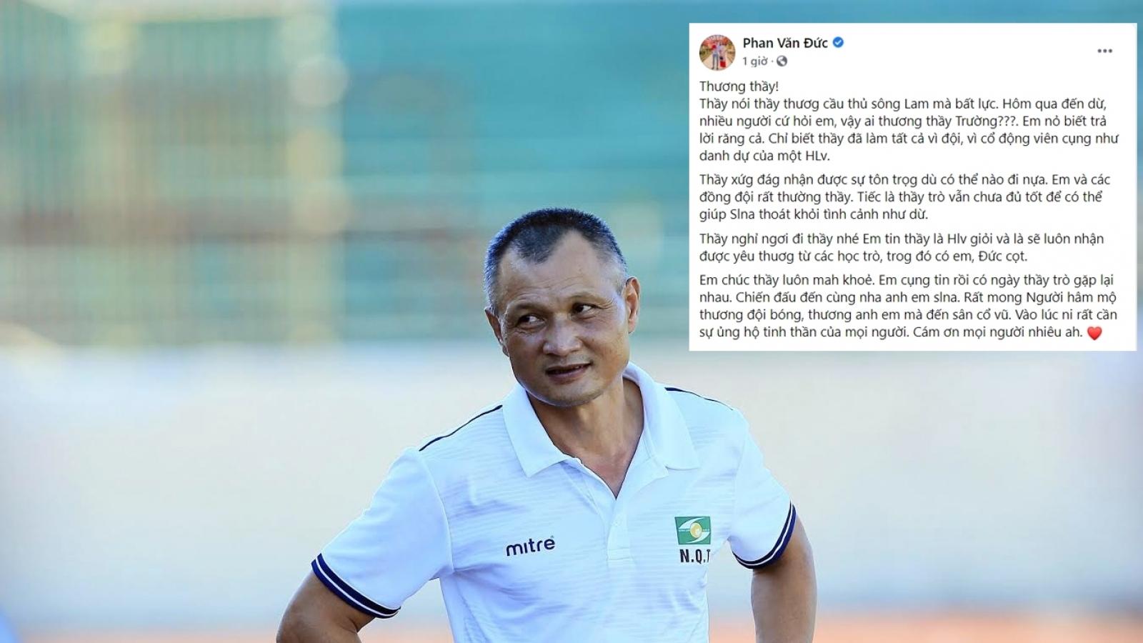"""Phan Văn Đức viết """"tâm thư"""" tri ân HLV Ngô Quang Trường"""