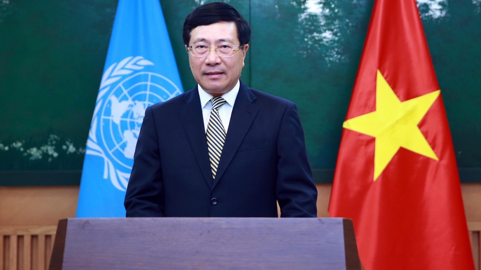 PTTPhạm Bình Minh gửi thông điệp tới Khóa họp lần thứ 77 của UNESCAP