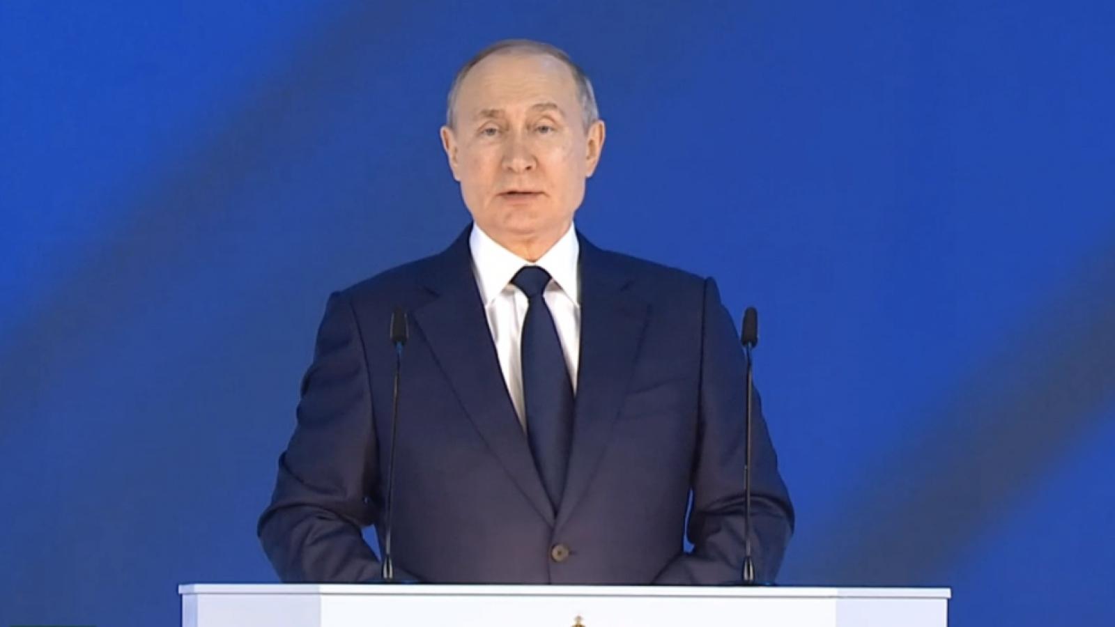 Video: Tổng thống Nga V.Putin đọc thông điệp liên bang năm 2021