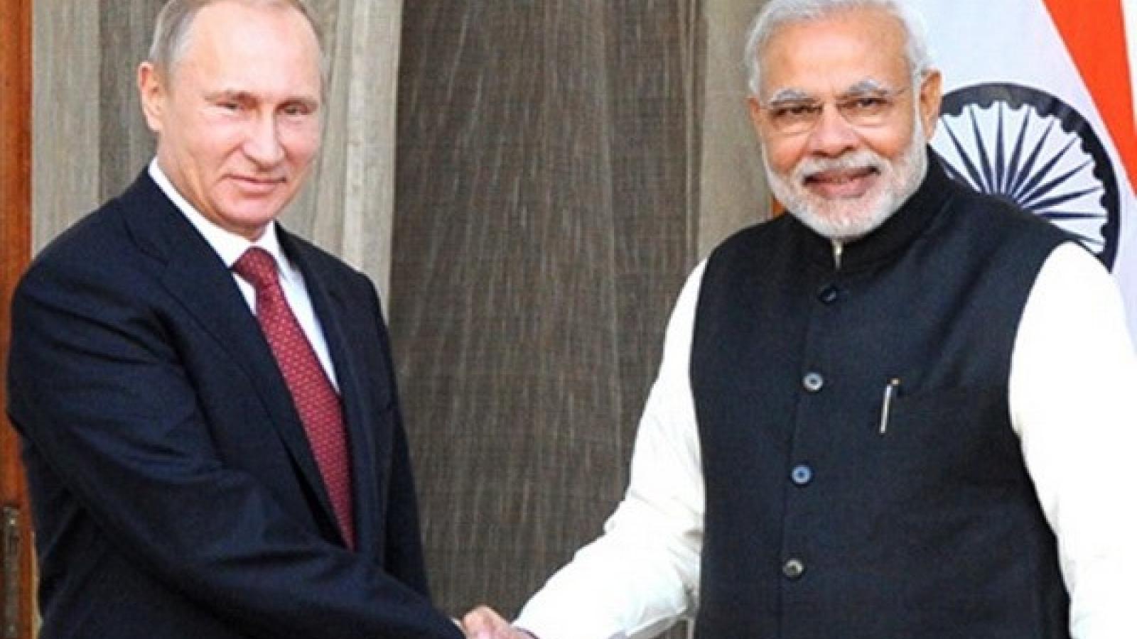 Ấn Độ - Nga thiết lập cơ chế Đối thoại 2+2 cấp bộ trưởng