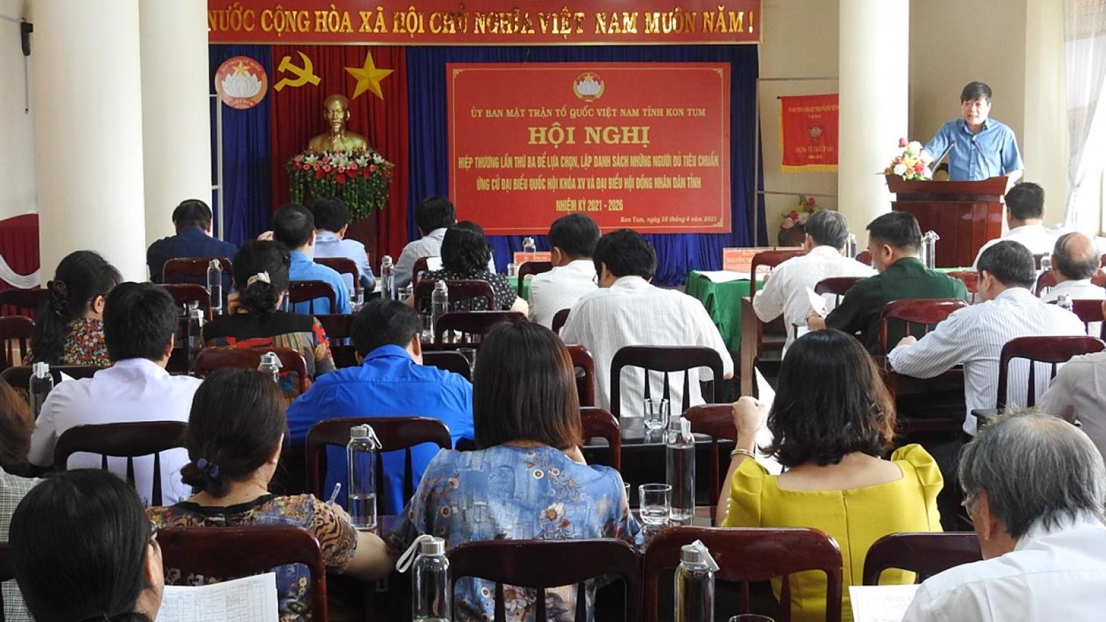 Kon Tum thống nhất 8 ứng cử viên đại biểu Quốc hội, 85 ứng cử viên HĐND tỉnh