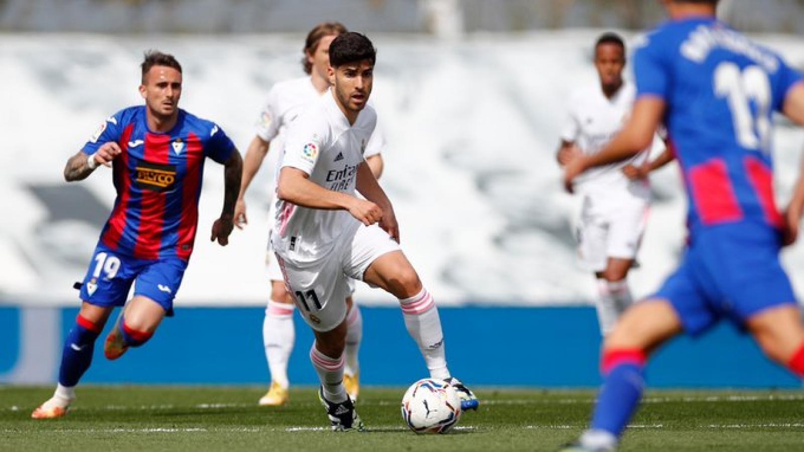 """3 lần bị từ chối bàn thắng, Real Madrid vẫn """"hạ đẹp"""" Eibar"""