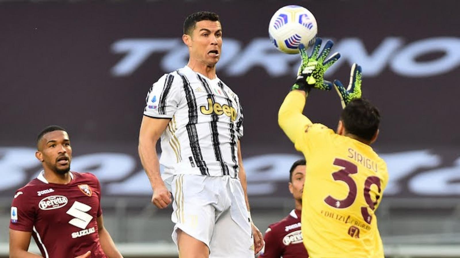 Ronaldo lập công, Juventus nhọc nhằn giành 1 điểm trước Torino